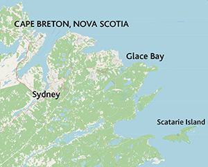 Scatarie Island, Nova Scotia, the turning point on the New York - St Lawrence route