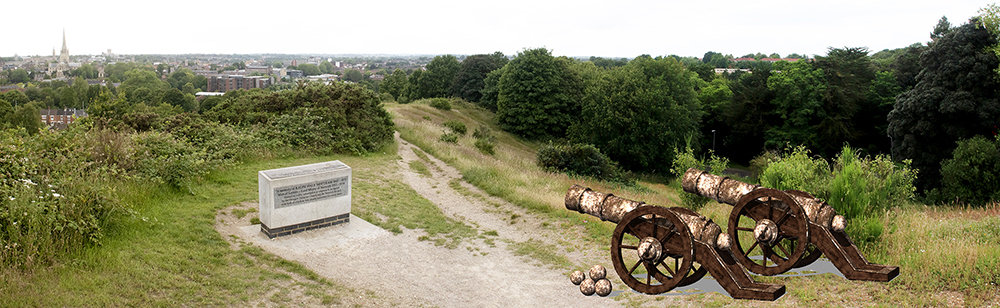 Looking over Norwich from the highest point of Mousehold Heath – St James' Hill.