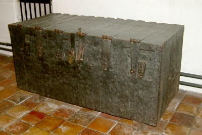 The great chest at North Walsham church, where the parish papers were all once stored.
