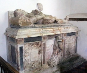 The tomb of Clement and his wife Alice in Oxnead church