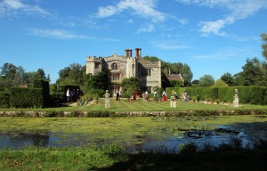 The moated manor house at Mannington, home of the Lumnors, friends of the Pastons.