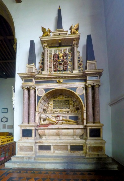 The tomb of Sir William Paston (1528-1610) at the east end of North Walsham church.