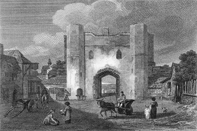 Yarmouth North Gate from the inside; demolished 1807.