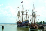 Replica vessels of the time at Jamestown, Virginia. - click to view the full sized version